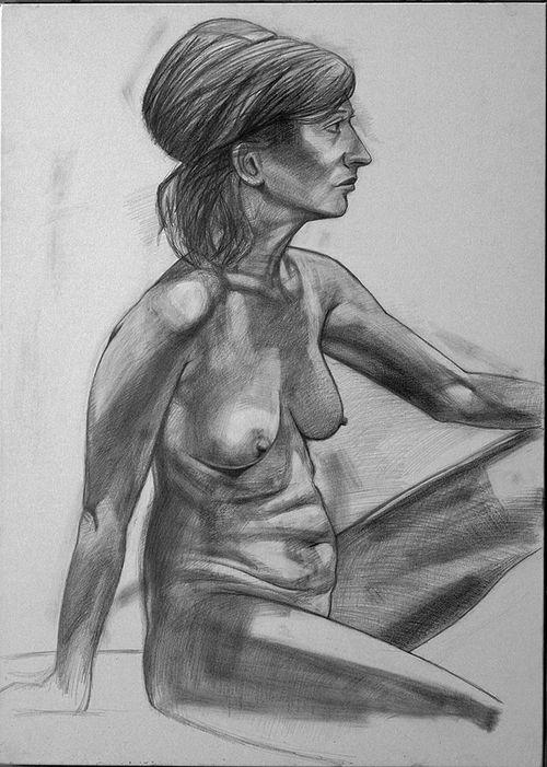 Janine pencil drawing