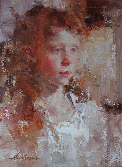 Carolyn Anderson portrait of a girl 12x9o 06